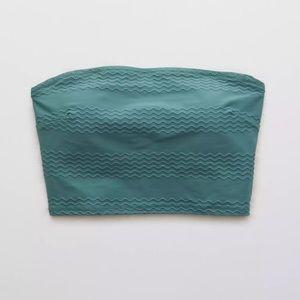 Aerie bandeau textured swim top